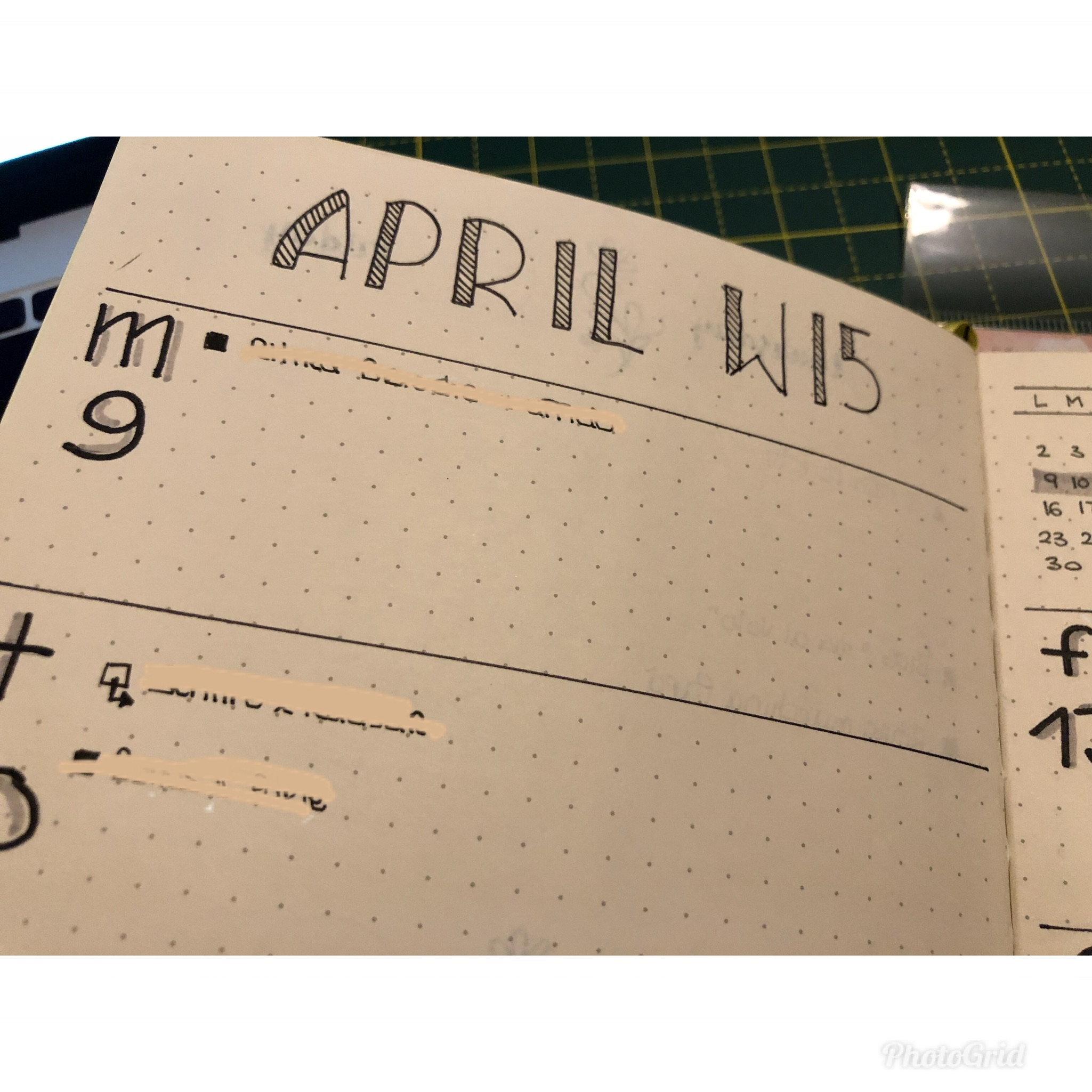 Bullet Journal: week #15 April