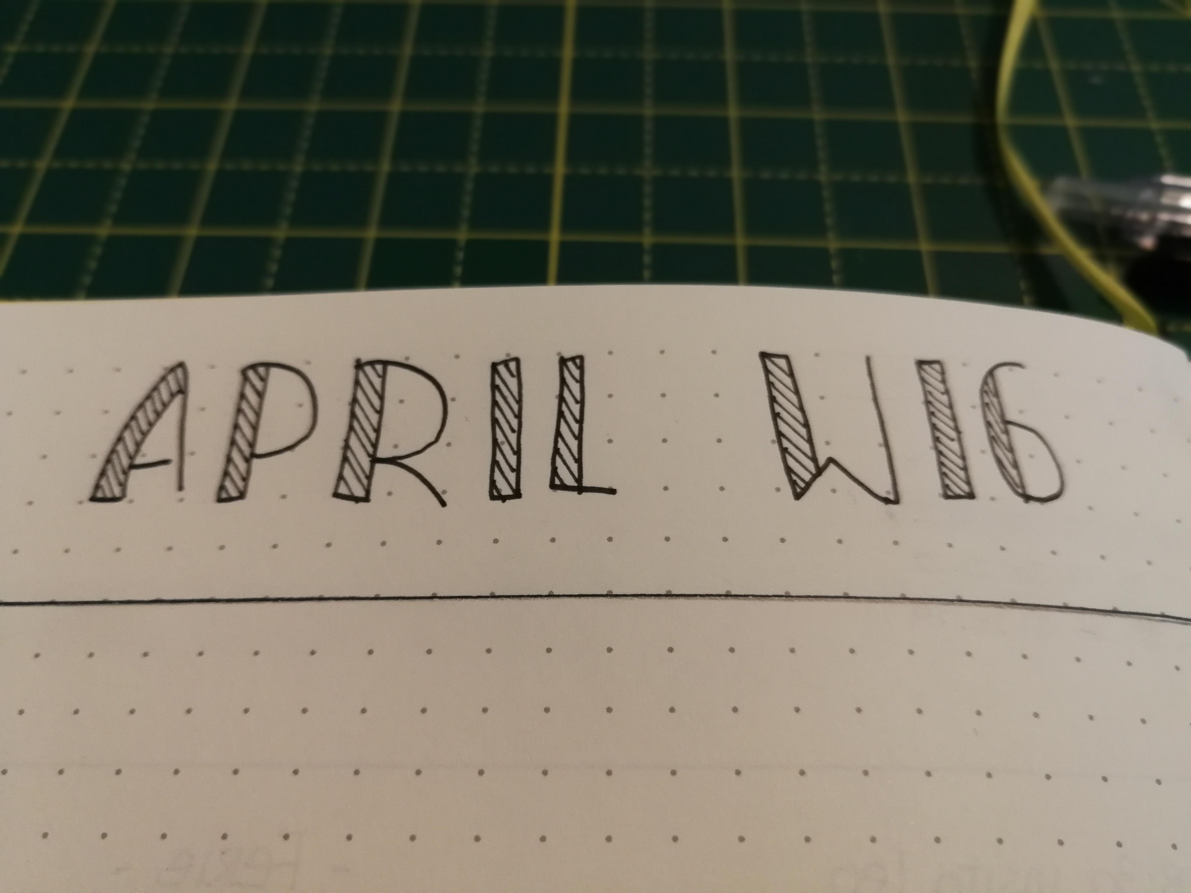 Bullet Journal : Week #16 April