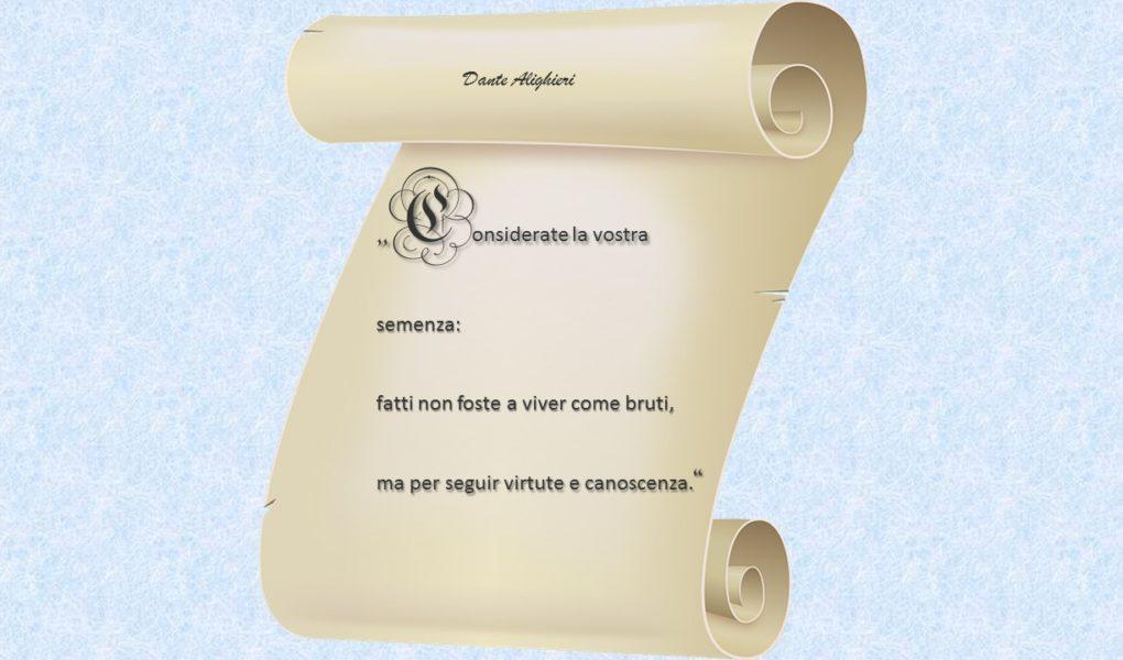 29 Maggio 2019 Dante Alighieri