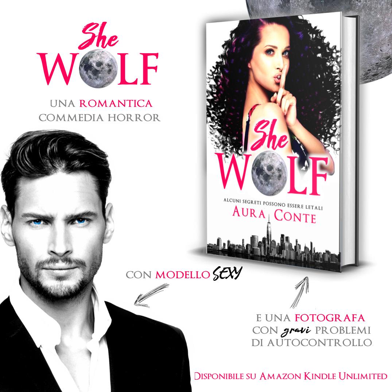 Banner quadrato - She Wolf di Aura Conte